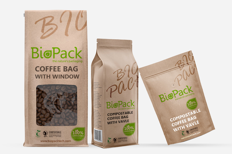 Bolsas de café compostables / biodegradables