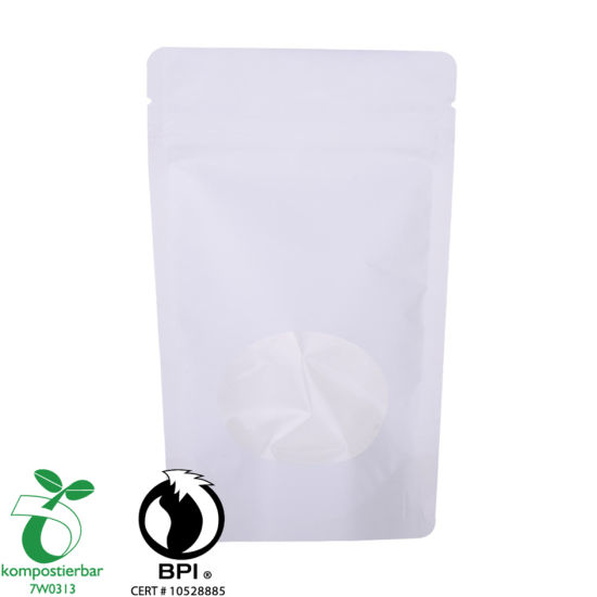 Bolsa de café Kraft de pie Ziplock resellable 250g Factory China