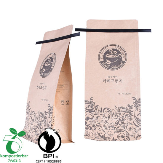 Ziplock PLA resellable y Pbat Coffee Carry Bag Factory China