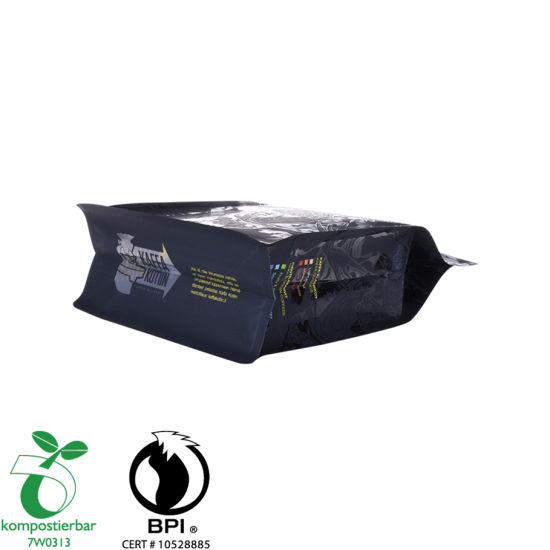Ziplock Square Bottom Black Plastic Bag Factory de China