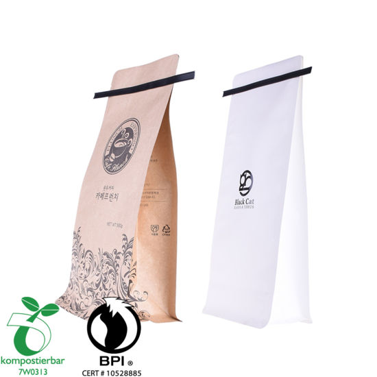 Bolsa de café transparente de papel Kraft de material laminado al por mayor de China